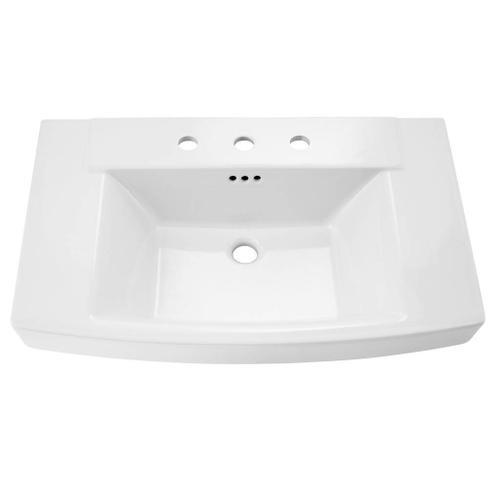 Townsend Pedestal Sink Top - 8 Inch Centers  American Standard - Linen