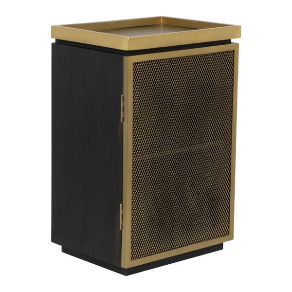 See Details - Nazzier Bar Cabinet Gold & Black