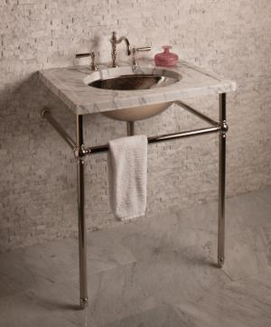 Vintage Console Vintage Console Stand / Polished Nickel Product Image