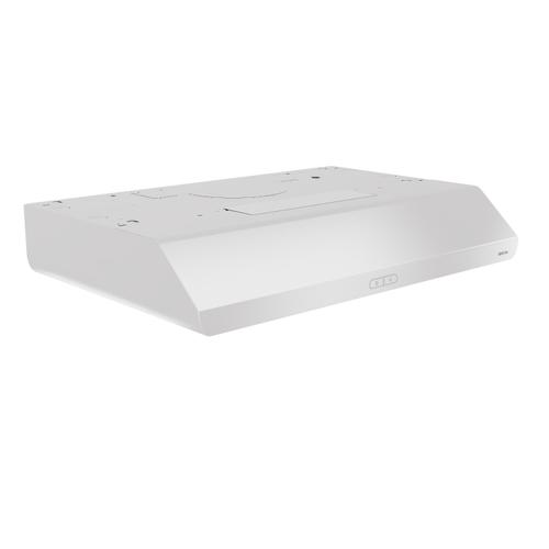 Broan® 30-Inch Convertible Under-Cabinet Range Hood, 300 CFM, White