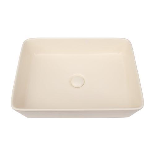 Harmony Rectangular Above Counter Basin - Matte Cream