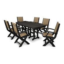 Black & Burlap Coastal 7-Piece Dining Set
