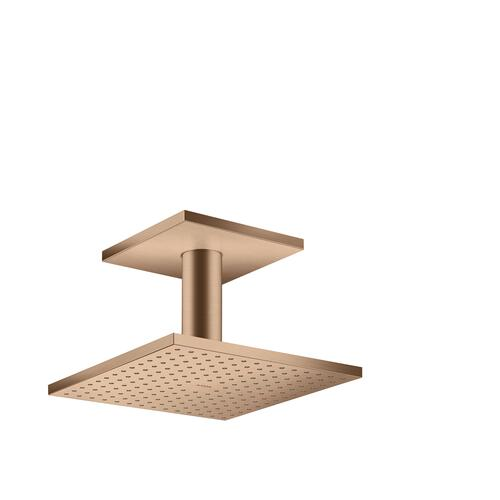 Brushed Red Gold Overhead shower 250/250 2jet with ceiling connection