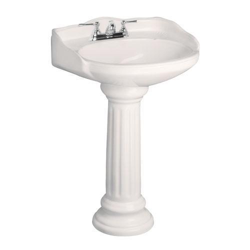 "Vicki Pedestal Lavatory - 4"" Centerset / Bisque"
