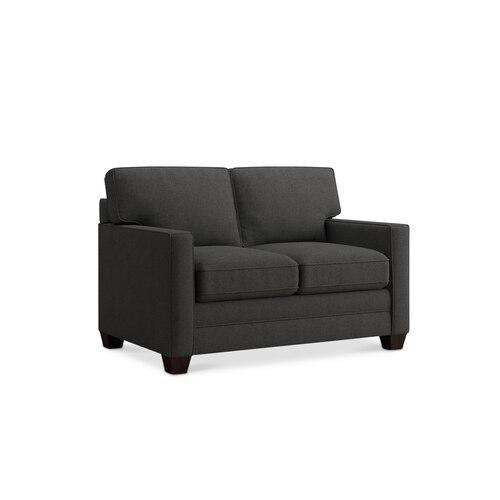Straw Alexander Track Arm Loveseat