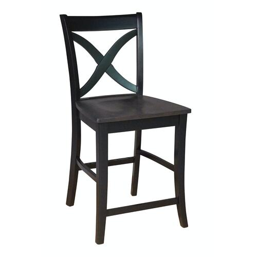 John Thomas Furniture - Salerno Stool in Coal & Black
