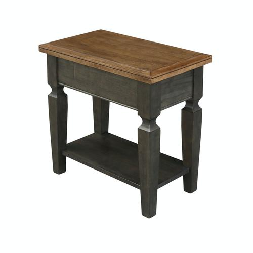John Thomas Furniture - Side Table in Hickory & Coal