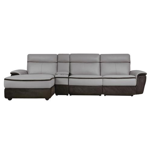 Gallery - 4-Piece Modular Power Reclining Sectional with Left Chaise