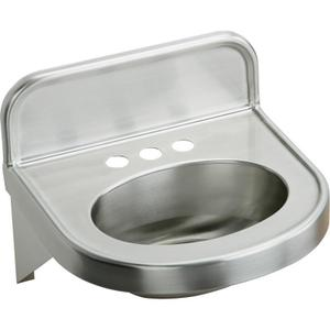 """Elkay Stainless Steel 18"""" x 17-1/16"""" x 5-9/16"""", Wall Hung Lavatory Sink Product Image"""