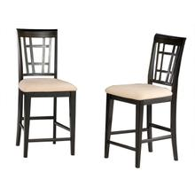 Product Image - Montego Bay Pub Chairs Set of 2 with Oatmeal Cushion in Espresso