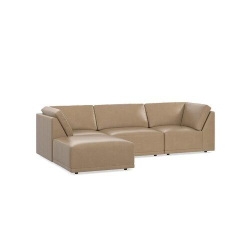 Knox Leather Small Chaise Sectional