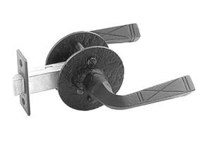 Double Lever Latch - Rough Iron Product Image