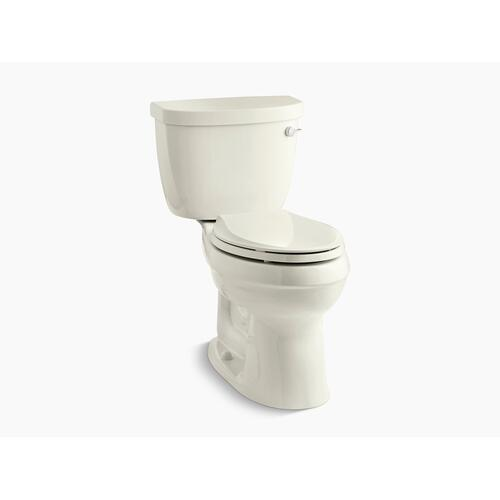 Kohler - Biscuit Two-piece Elongated 1.6 Gpf Toilet With Tank Cover Locks