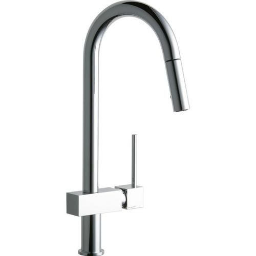 Elkay - Elkay Avado Single Hole Kitchen Faucet with Pull-down Spray and Lever Handle Chrome