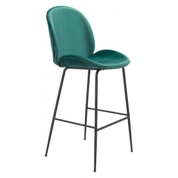 Miles Bar Chair Green