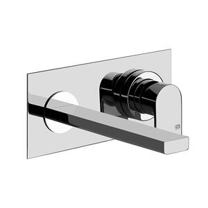 "TRIM PARTS ONLY Wall-mounted washbasin mixer trim Spout projection 7-1/2"" Drain not included - See DRAINS section Requires in-wall rough valve 26697 Max flow rate 1 Product Image"