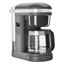 See Details - 12 Cup Drip Coffee Maker with Spiral Showerhead - Matte Charcoal Grey