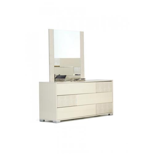 VIG Furniture - Modrest Ancona Italian Modern Beige Mirror