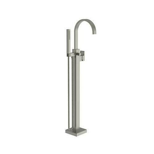 Gun Metal Exposed Tub and Hand Shower Set - Free Standing
