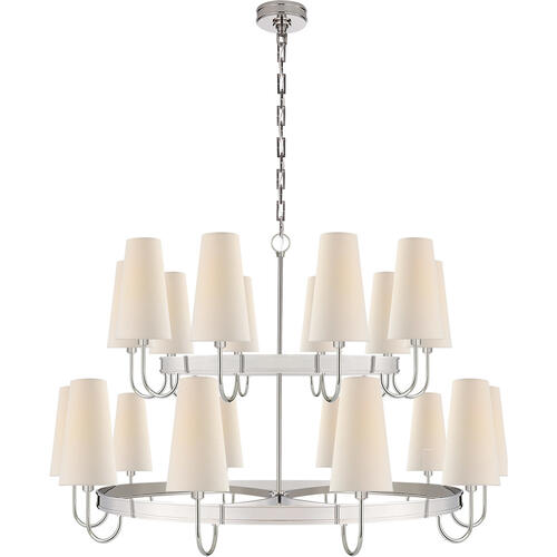 Visual Comfort - E. F. Chapman Venini 20 Light 46 inch Polished Nickel Chandelier Ceiling Light, Large