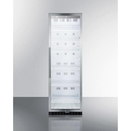 Product Image - Commercial Beverage Merchandiser With 12.6 CU.FT. Capacity, Digital Thermostat, Self-closing Door, and Stainless Steel Cabinet; Replaces Scr1400css