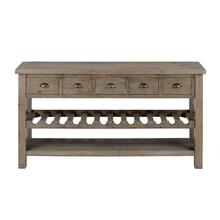 "Slater Mill Pine 60"" Wine Rack/server"