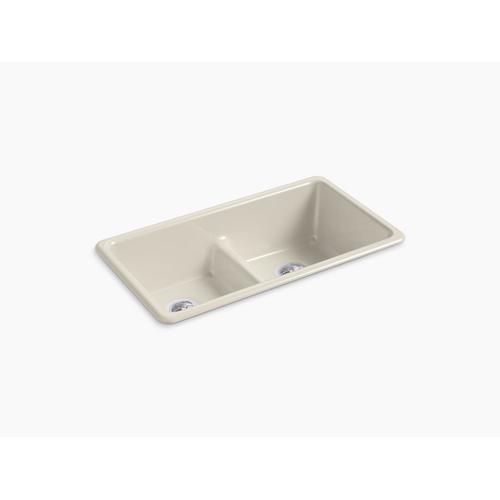 "Sandbar 33"" X 18-3/4"" X 9-5/8"" Smart Divide Top-mount/undermount Double-equal Kitchen Sink"