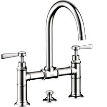 Chrome 2-Handle Faucet 220 with Lever Handles and Pop-Up Drain, 1.2 GPM