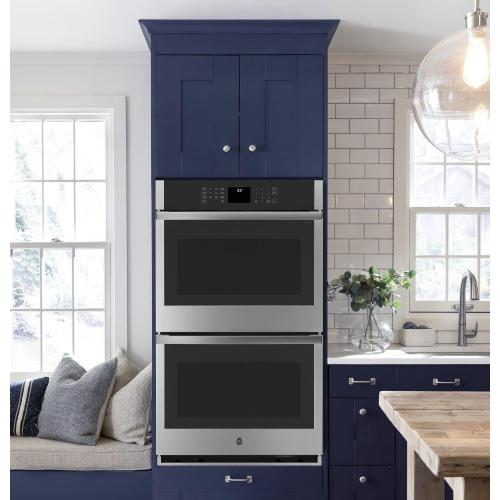 "GE® 30"" Smart Built-In Self-Clean Double Wall Oven with Never-Scrub Racks"