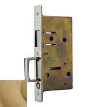 Vintage Brass 8603 Pocket Door Strike with Pull