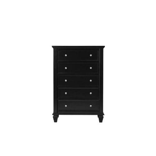 Sandy Beach Black Five-drawer Chest