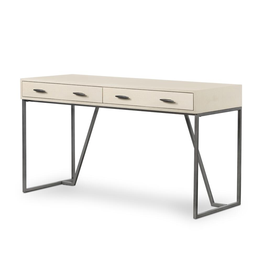 Ivory Finish Shagreen Desk