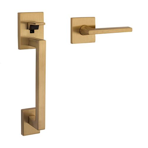 Satin Brass and Brown Minneapolis Handle Grip Sectional