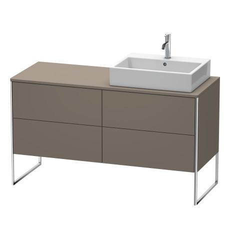 Vanity Unit For Console Floorstanding, Flannel Gray Satin Matte (lacquer)