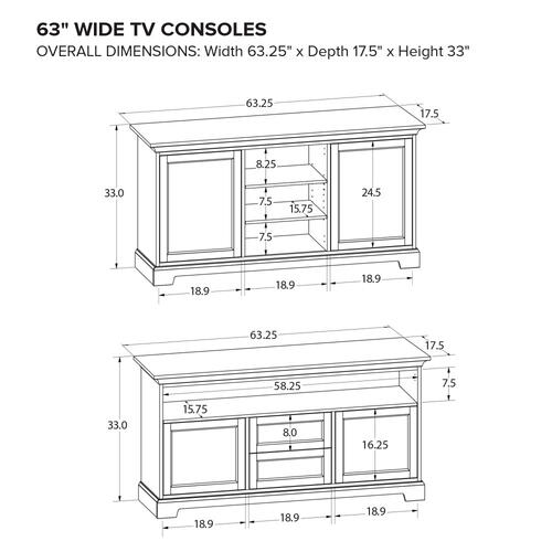Howard Miller Custom TV Console TS63C