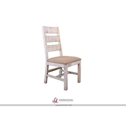 Chair w/ Solid wood -100% Polyester With a Linen Appearance