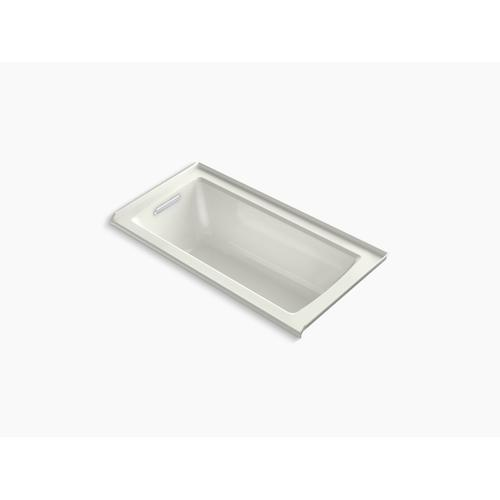 "Dune 60"" X 30"" Alcove Bath With Bask Heated Surface, Integral Flange and Left-hand Drain"