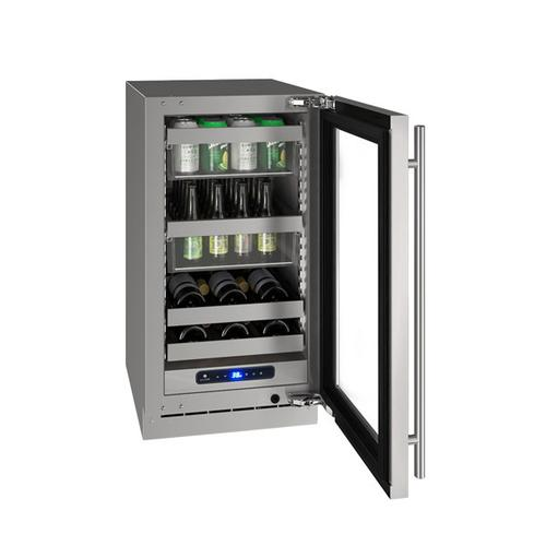 "Hbv518 18"" Beverage Center With Stainless Frame Finish and Field Reversible Door Swing (115 V/60 Hz Volts /60 Hz Hz)"