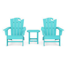View Product - Wave 3-Piece Adirondack Set with The Ocean Chair in Aruba