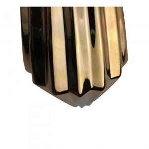 Ceramic Vase - Metalic golden plated
