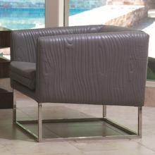 See Details - Faux Bois Tuxedo Chair-Grey