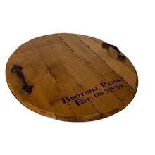 JB Whiskey Barrel Head Lazy Susan