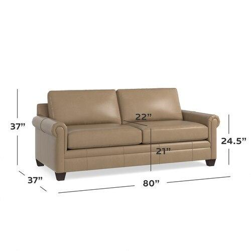 Carolina Leather Panel Arm Queen Sleeper