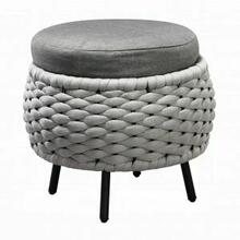 ACME Egil Patio Ottoman - 45042 - Fabric & Gray