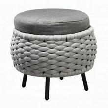 ACME Egil Patio Ottoman - 45042 - Fabric & Gray