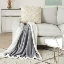 "Throw Blankets Sn102 Light Grey 50"" X 60"""
