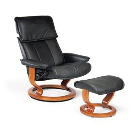 Stressless Admiral Medium Classic Base Chair and Ottoman