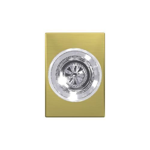 Custom Hobson Non-Turning Glass Knob with Century Trim - Satin Brass