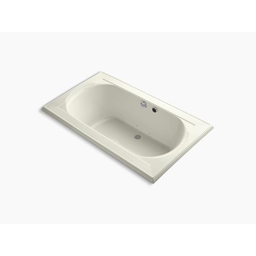 """Biscuit 72"""" X 42"""" Heated Bubblemassage Air Bath With Center Rear Drain"""
