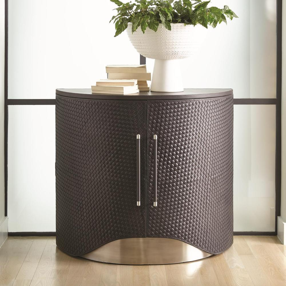 See Details - Milan Demi Lune-Charcoal Leather